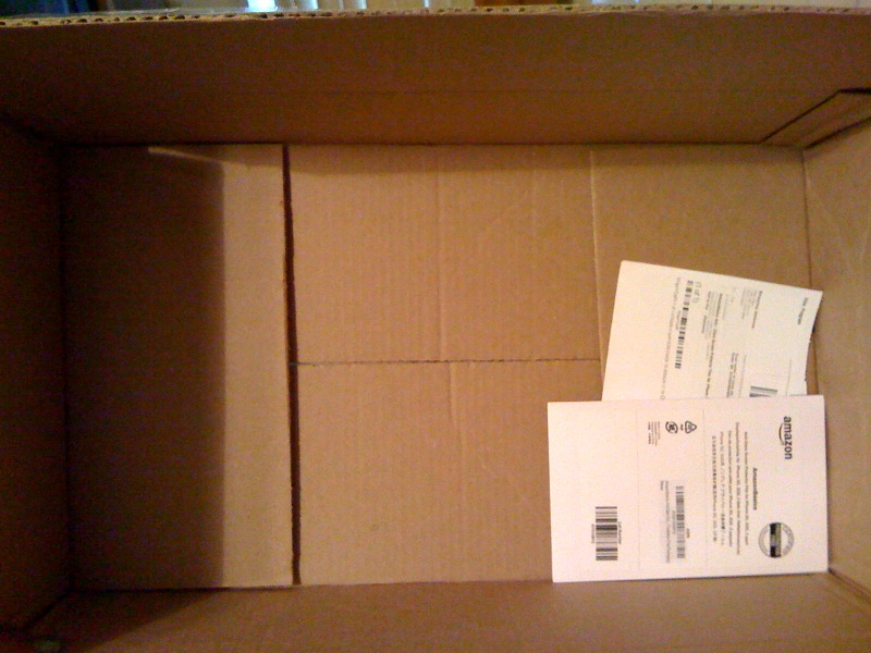 TINY package in GIANT box
