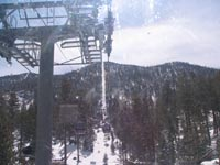 The Gondola Going Up The Mountain